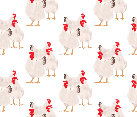 Chickens fabric by amy_hadden on Spoonflower - custom fabric