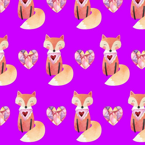 foxy bandana on bright purple