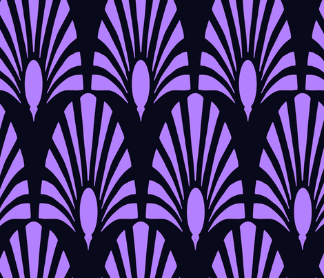gatsby peacock and bloom mauve fabric by lulu_funk on Spoonflower - custom fabric