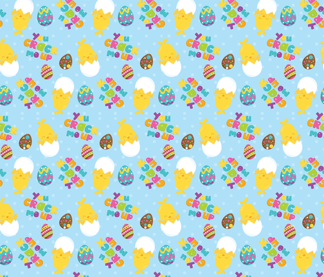 Easter Friends 01 fabric by prettygrafik on Spoonflower - custom fabric
