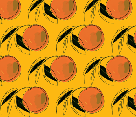 My Watercolor Peach fabric by menny on Spoonflower - custom fabric