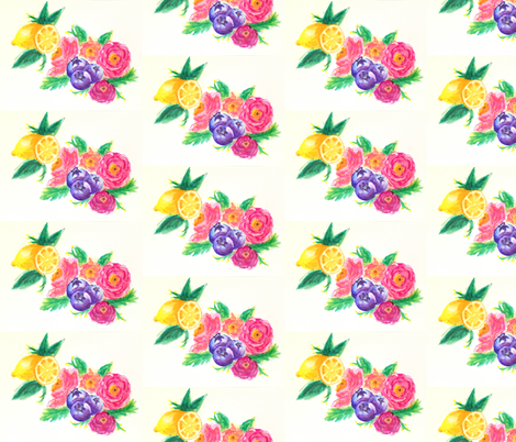 lemon-blueberry fields  fabric by calaismcneely on Spoonflower - custom fabric