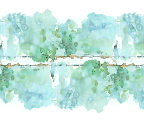 Watercolor Landscape Large fabric by studio_minerbi on Spoonflower - custom fabric