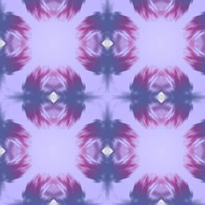 Flower Rorschach Purple Grid