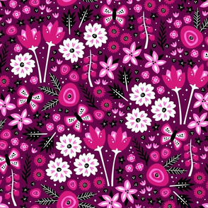 Spring Garden (Dark Pink)