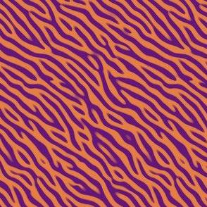 Animal Stripes Orange and Purple
