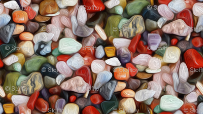 oil painted stones