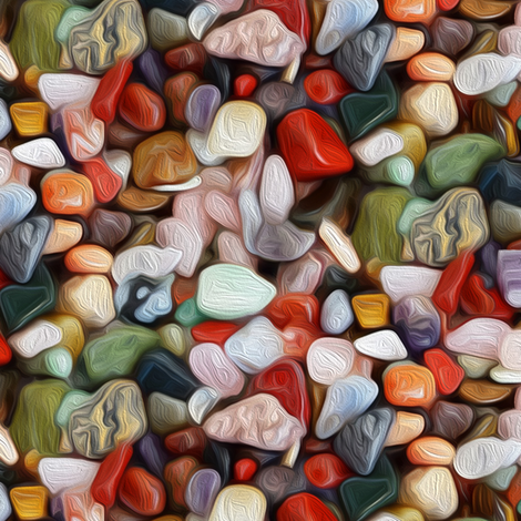 oil painted stones fabric by stofftoy on Spoonflower - custom fabric