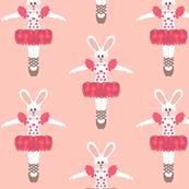 Stage Fright  - bunny ballerina