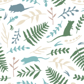 Rats and Ferns (white)
