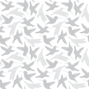 Hummingbird Repeat (grey)