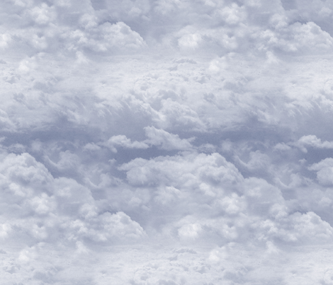 Stormy Realistic Clouds fabric by hazelnut_green on Spoonflower - custom fabric