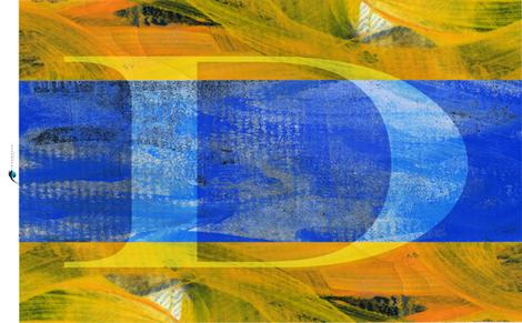 Nautical D Signal Flag Tea Towel fabric by barbarapritchard on Spoonflower - custom fabric