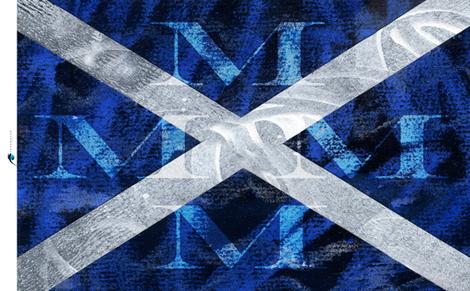 Nautical M Sailing Signal Flag Tea Towel fabric by barbarapritchard on Spoonflower - custom fabric