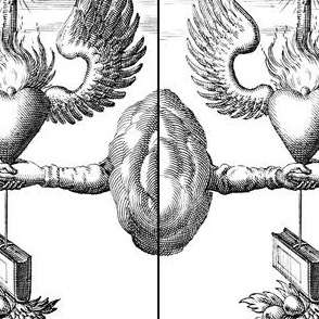 clouds hands sacred heart burning hearts wings candles wings books fruits mountains Illuminati Freemasons Templar knights spiritual occult Masonic rituals symbolism symbols mysterious  black white monochrome