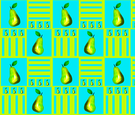 The Pear  fabric by franbail on Spoonflower - custom fabric