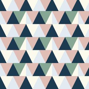 triangles // mauve and blue