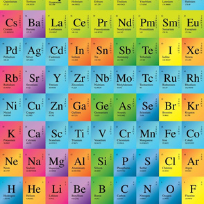 periodic table elements - Periodic Table Fabric