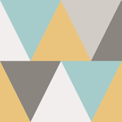 triangles // mustard and aqua