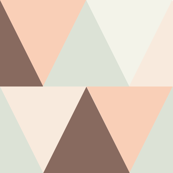 triangles // pink and brown
