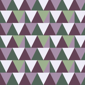 triangles // purple and green