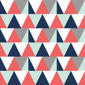 triangles // mint and poppy