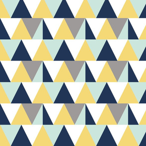triangles // mint and yellow