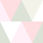 triangles // pink and green