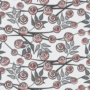 Gray and Pink Climbing Rose by Amborela