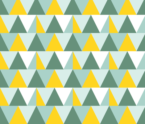triangles // lemon fabric by graysandtorreys on Spoonflower - custom fabric
