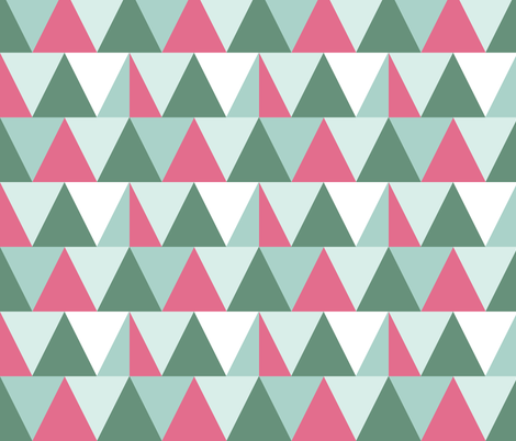 triangles // raspberry fabric by graysandtorreys on Spoonflower - custom fabric