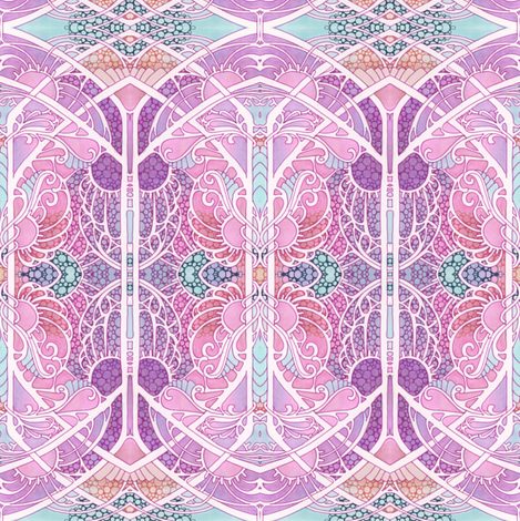The Art Nouveau Gothic Rainbow Factor fabric by edsel2084 on Spoonflower - custom fabric
