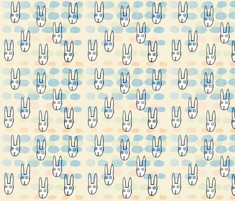 rabbit fabric by kimmurton on Spoonflower - custom fabric