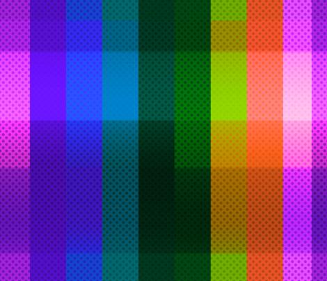 Rainbow Plaid fabric by puggy_bubbles on Spoonflower - custom fabric