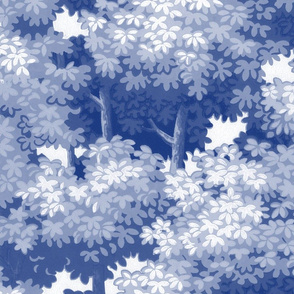 Sherwood Forest ~  Willow Ware Blue and_White