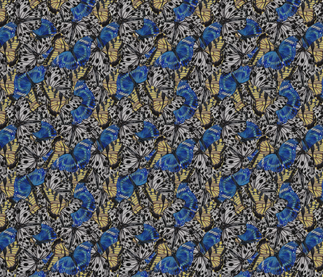 Butterflies (Layered) fabric by up(sty)le on Spoonflower - custom fabric