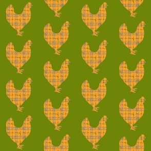 plaid chickens