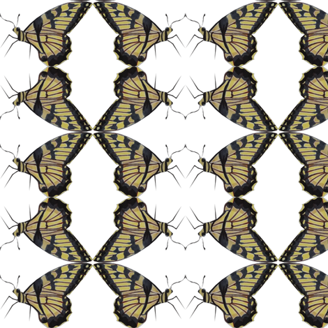 Yellow Butterfly fabric by up(sty)le on Spoonflower - custom fabric