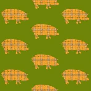 plaid piggies