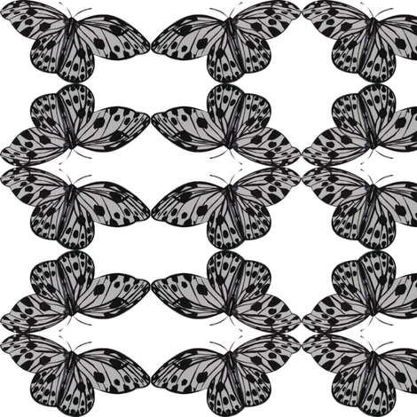 White Butterfly Chain fabric by up(sty)le on Spoonflower - custom fabric