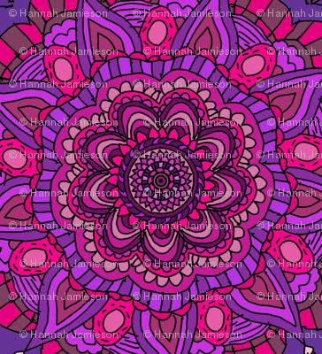 Purple And Pink Mandalas Fabric Hejamieson Spoonflower