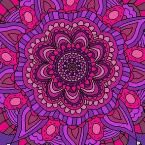 Purple and Pink Mandalas