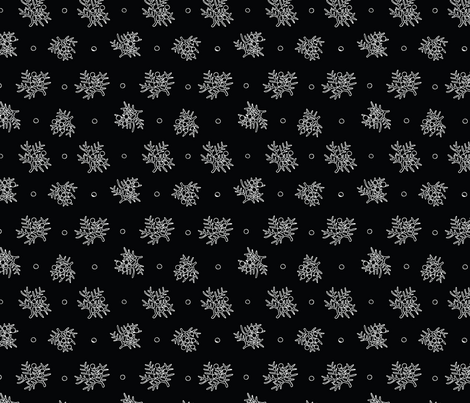 Rocky Mountain Juniper - Black fabric by adinamarguerite on Spoonflower - custom fabric