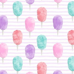 cotton candy on lilac stripes - carnival food