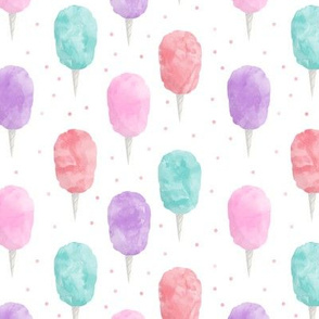 cotton candy with polka dots