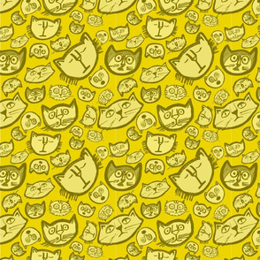 Inky Cat says 'Yellow'