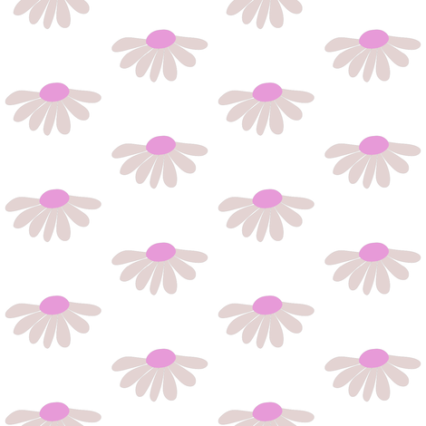 Daisies fabric by bashfulbirdie on Spoonflower - custom fabric