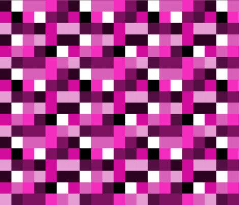cmyk pixels (magenta) fabric by hazelnut_green on Spoonflower - custom fabric