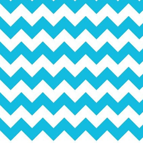 Turquoise and White Chevron
