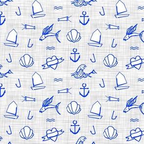 Petit Sailor / Cobalt & Grey